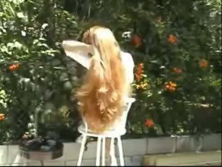 heet lesbiennes scène, mooi roodharigen film, 18 jaar oud