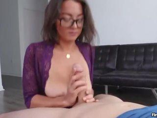 beste brunette seks, meer bril vid, nominale grote tieten actie