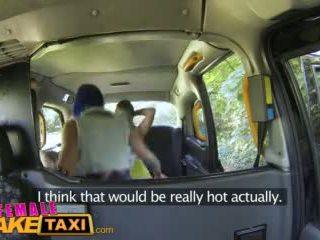 Femalefaketaxi Sexy Lesbian Fun With Toys in British Taxi