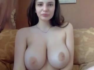 C3c3: Big Nipples & Big Natural Tits Porn Video
