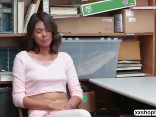 Shoplifter Kat Arina gets bang in the office