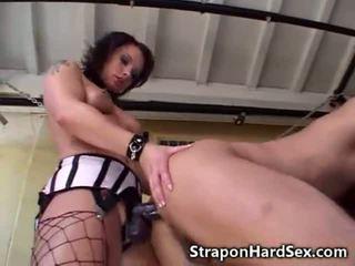 Strapon Babes Fuck Male!