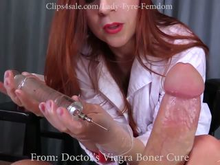 Nurse Creams on Patient's Cock During Sperm Donation