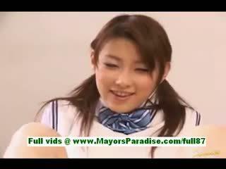 Akane Sakura Young Japanese Schoolgirl In Bed
