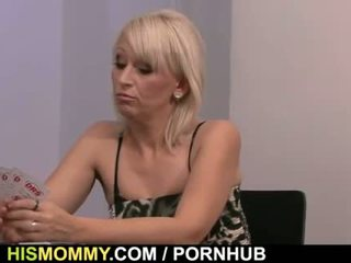 His GF is toyed after strip poker with his mom