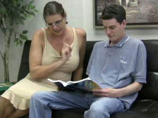 big tits, mature, moms and boys