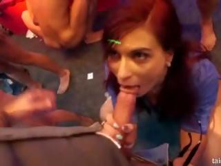 Excited pornstars fucks in club