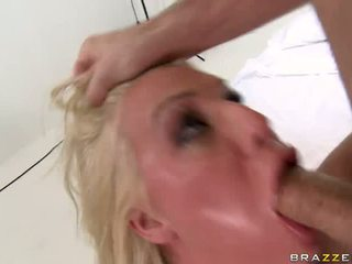 Porn bitch Sadie Swede deepthroats a nice stiff cock eager enough to fuck her