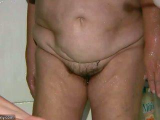 ikäinen, mummi, rasva, vanha pussy