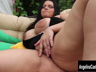 Big Tit Cuban Slut Angelina Castro Squirts and Blows...