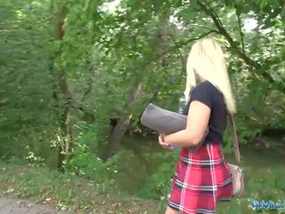 Public Agent British Blonde Amber Deen First Outdoor Sex