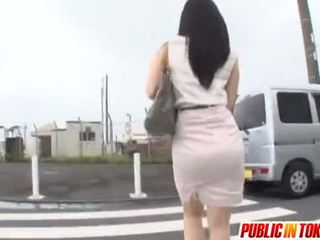 japonez, excitat, autobuz