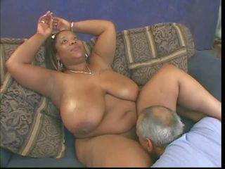 schwarz und ebony, interracial, natürliche brust