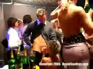 Drunk Sluts Have A Hot Group Sex Party