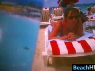 real brunette, most voyeur rated, fresh beach