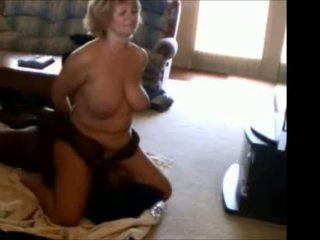 Mature wife interracial facesitting