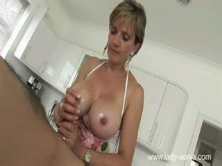 dowolny tittyfucking, ładny titsjob, wytryski