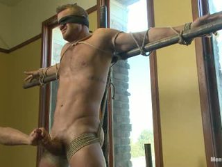 Super Hunk Landon Conrad Tied Up And Edged For The Very First Time1