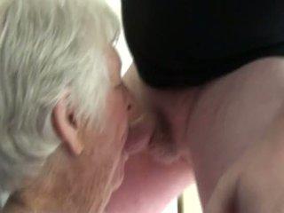 oma seks, gratis verrassing neuken, 2on1 scène