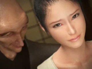 orale seks film, deepthroat scène, nieuw japanse