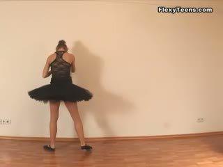 flexibele film, hq stretching neuken, controleren ballerina kanaal