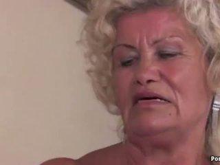 Granny screams while fucked hard