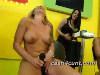 Regular girls tempted by cash offered by pornstar guys