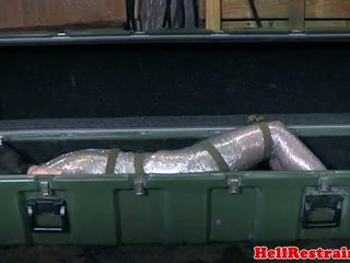 Mummified submissa learns discipline