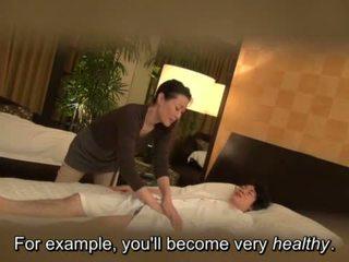 "Subtitled Japanese milf massage therapist seduction in HD <span class=""duration"">- 5 min</span>"