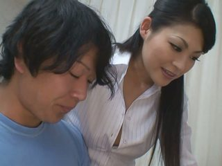 Boy gets more than help for his studies from hot teacher babe