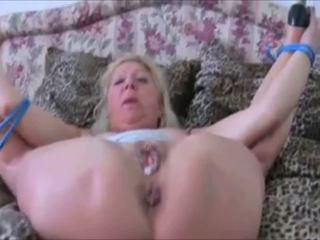 German Granny Tied up and Getting Fucked Hard in High