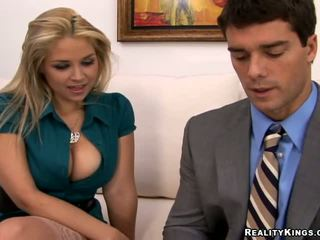 blondes, big tits, free office
