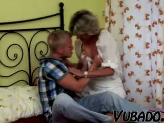 MILF likes to ride young man!