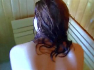 Busty Angel - Doggystyle and Boob Job in the Sauna: Porn dc
