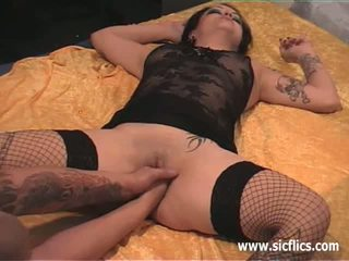 Brutal anal and vaginal fist fucked amateur slut
