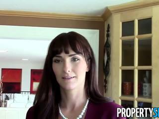 PropertySex - MILF realtor fucks pervert for money