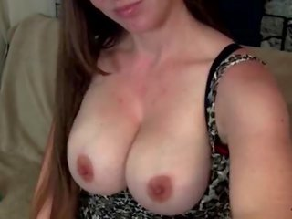 Taboo Mom Kristi Gives Son Sneaky Handjob and Cum on Big Tits Fauxcest Mom and Son