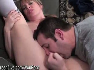 All Natural Maggie Gets Off While Giving BJ!