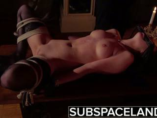 BDSM - Teen Tied up and Fucked in Rough Sexual Pleasure