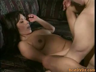 groot brunette, meer orale seks vid, controleren oraal film