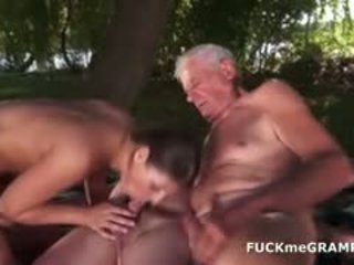 Two Grandpas And A Hot 19yo Babe