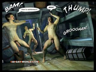 Adventures من cabin b-y 3d مثلي الجنس عالم comics