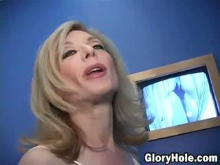 Nina Hartley at a Gloryhole