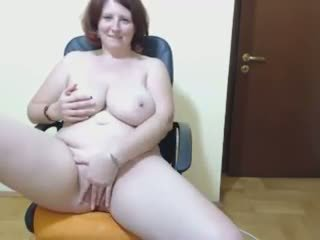 Curvy Amateur Lady with Huge Boobs Tease and Masturbate