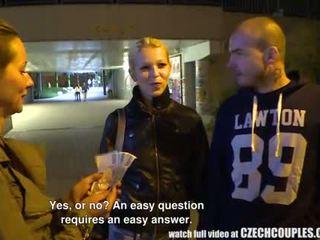 Beautiful Czech Pair Gets Money