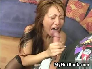 Taylor Kiss is a dirty blonde Asian who takes off
