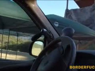 Horny BP Officer Fucked Amateur Brunette Chick At The Border