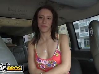 Bangbros - Big Ass Brunette Elisa Verricci Gets Pussy Stretched Out on the Bang Bus