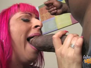 Mother Raven Black playing with a thick cock