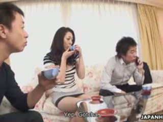 Mature Japanese Darling Ruri Hayami Gets Used By Her Man's